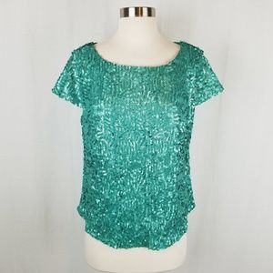 Jealous Tomato sequin top size large